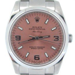 Mens Rolex Stainless Steel Air-King Salmon Arabic 114200 (SKU M062168NMT)