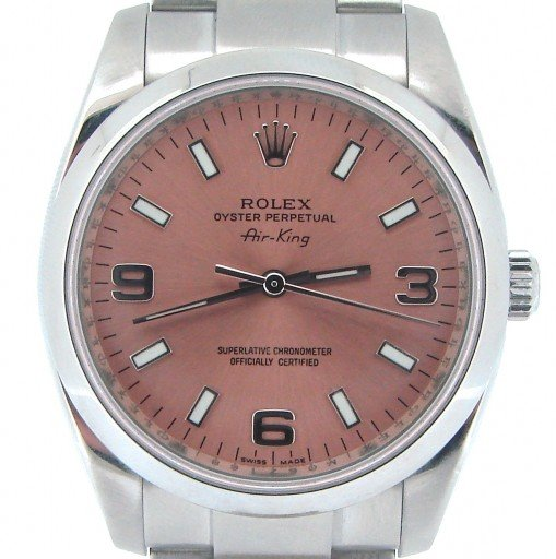 Rolex Stainless Steel Air-King 114200 Salmon-1