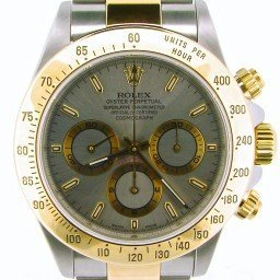 Mens Rolex Two-Tone 18K/SS Daytona Gray Slate  16523