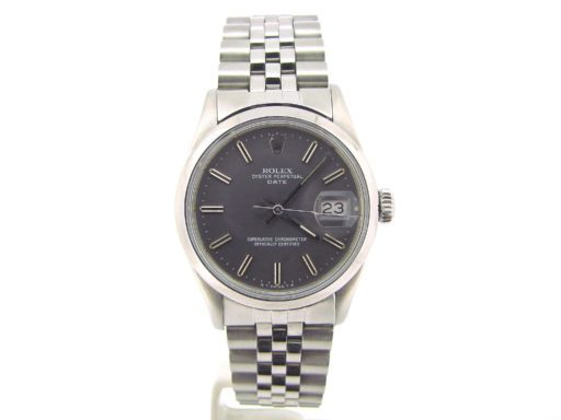 Rolex Stainless Steel Date 15000 Gray, Slate -5