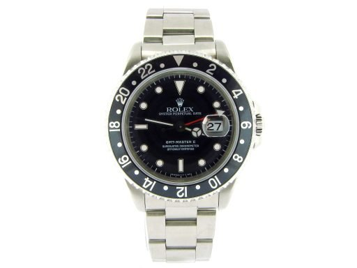 Rolex Stainless Steel GMT Master II 16710 Black -5