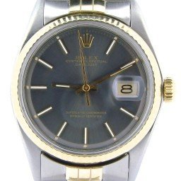Mens Rolex Two-Tone 14K/SS Datejust Gray Slate  1601