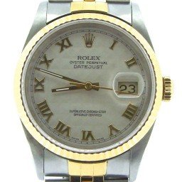 Mens Rolex Two-Tone 18K/SS Datejust Ivory Roman 16233