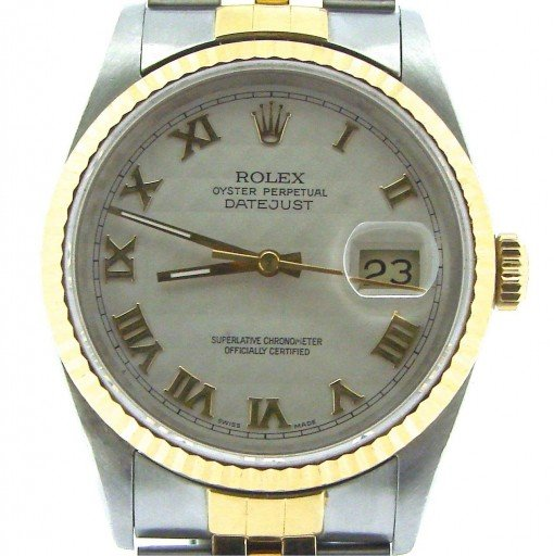 Rolex Two-Tone Datejust 16233 Ivory Roman-1