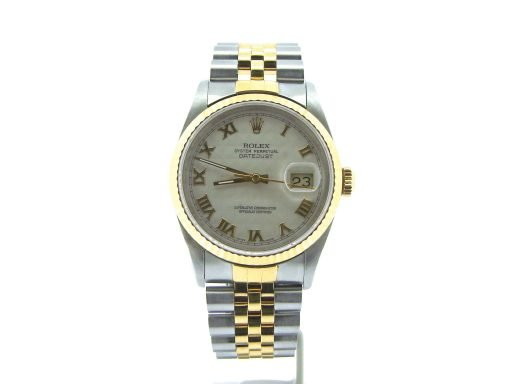 Rolex Two-Tone Datejust 16233 Ivory Roman-6