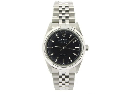 Rolex Stainless Steel Air-King 14000 Black-7
