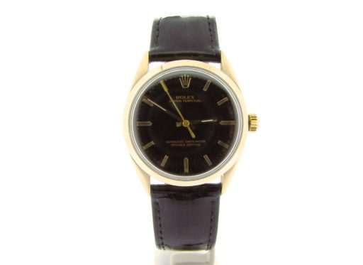 Rolex Gold Shell Oyster Perpetual 1024 Black-7