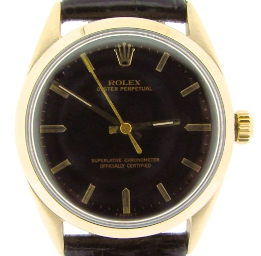 Rolex Gold Shell Oyster Perpetual 1024 Black-1