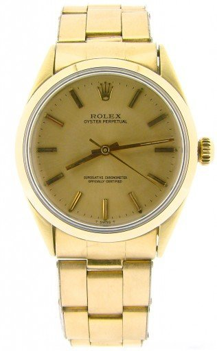 Rolex Gold Shell Oyster Perpetual 1024 Champagne-8