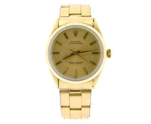 Rolex Gold Shell Oyster Perpetual 1024 Champagne-9