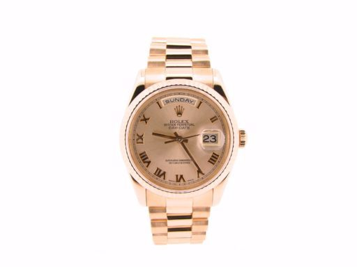 Rolex 18K Rose Gold Day-Date President 118235 Rose Roman-7