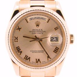 Mens Rolex 18K Gold Day-Date President Rose Roman 118235 (SKU P807678NT)