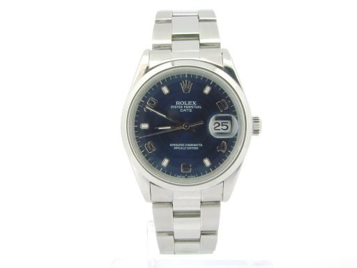 Rolex Stainless Steel Date 15200 Blue Arabic-7