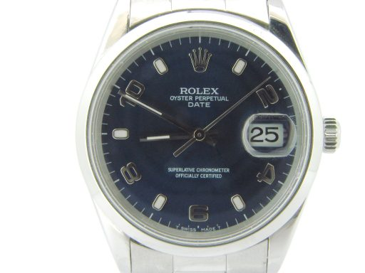Rolex Stainless Steel Date 15200 Blue Arabic-1