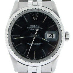 Mens Rolex Stainless Steel Datejust Black  16030