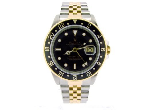 Rolex Two-Tone GMT Master II 16713 Black -4