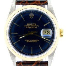 Mens Rolex Two-Tone 18K/SS Datejust Blue  16233