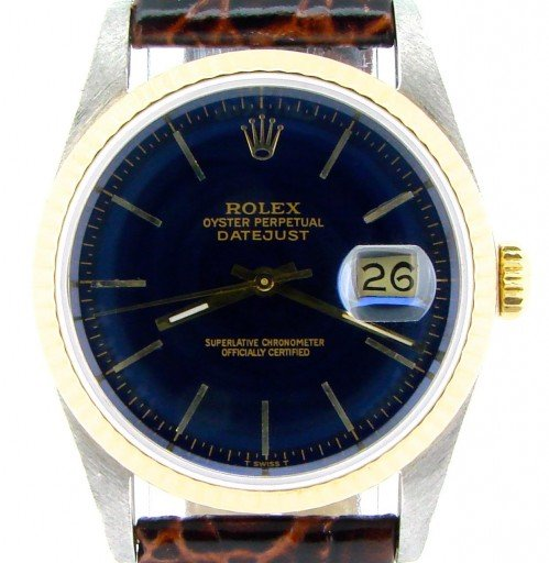 Rolex Two-Tone Datejust 16233 Blue -1