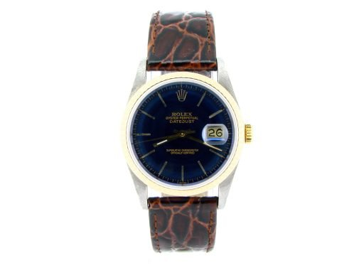 Rolex Two-Tone Datejust 16233 Blue -5