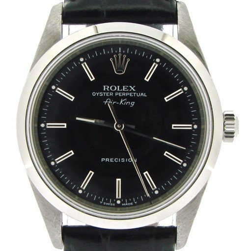 Rolex Stainless Steel Air-King 14000 Black-1