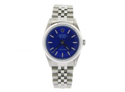 Rolex Stainless Steel Air-King 14000 Blue-7