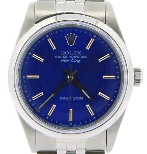 Rolex Stainless Steel Air-King 14000 Blue-1