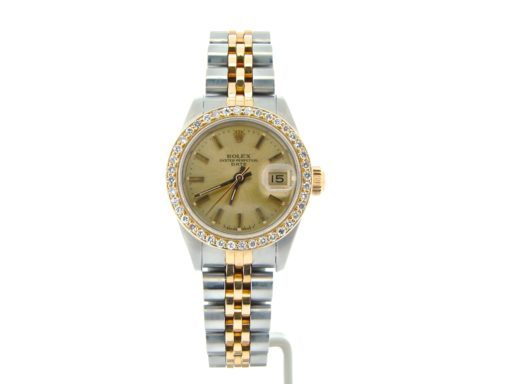 Rolex Two-Tone Date 69173 Diamond Champagne-7