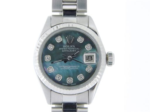Rolex Stainless Steel Datejust 6917 Tahitian MOP Diamond-5