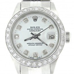 Ladies Rolex Stainless Steel Datejust White Diamond (SKU 5012588NMT)