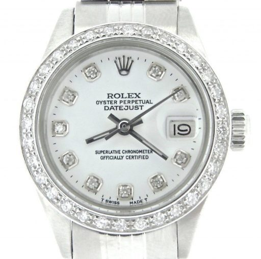 Rolex Stainless Steel Datejust 6917 White Diamond-1