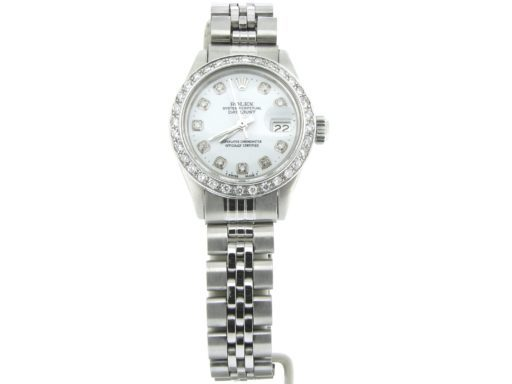 Rolex Stainless Steel Datejust 6917 White Diamond-4