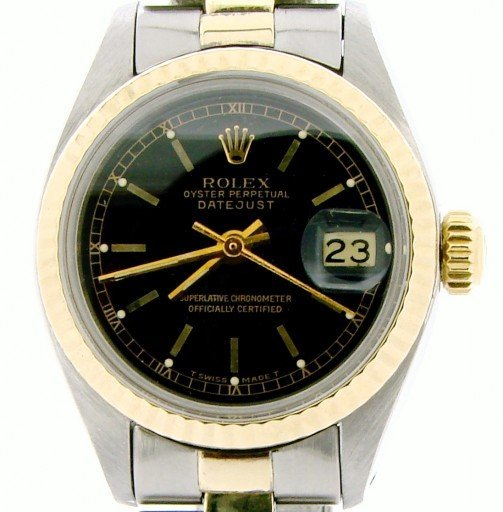 Rolex Two-Tone Datejust 6917 Black -1