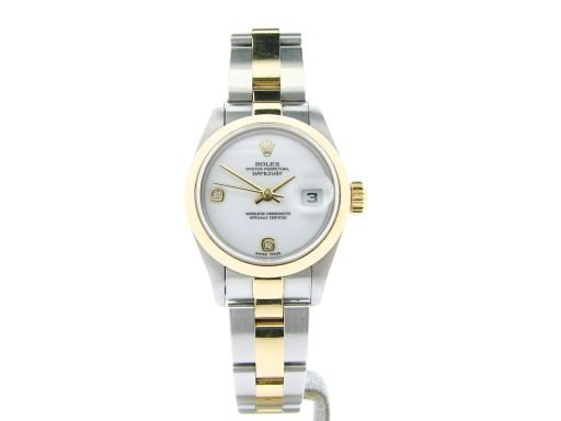 Rolex Two-Tone Datejust 79163 White Arabic & Diamond-8