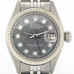 Ladies Rolex Stainless Steel Datejust Tahitian MOP Diamond 6917 (SKU 3342840NJUBMT)