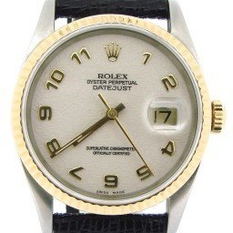 Mens Rolex Two-Tone 18K/SS Datejust White Arabic 16233