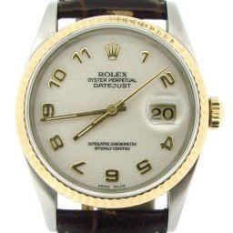 Mens Rolex Two-Tone 18K/SS Datejust White Arabic 16233 (SKU X402677NBRNBCMT)