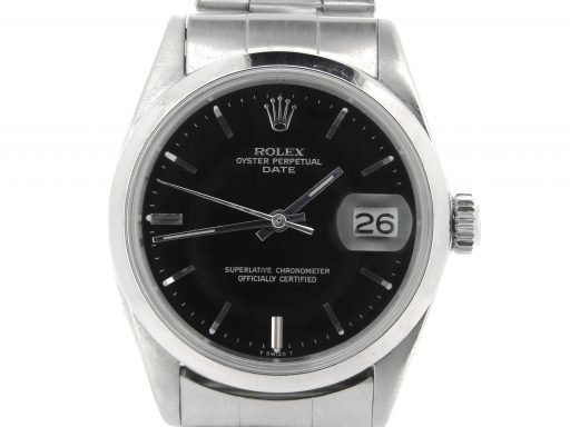 Rolex Stainless Steel Date 1500 Black -1