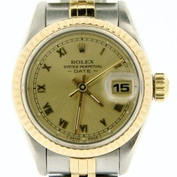 Ladies Rolex Two-Tone 18K/SS Date Champagne Roman 69173 (SKU 8285824NMT)
