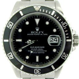 Mens Rolex Stainless Steel Submariner Black  16610 (SKU E566436NNBCMT)