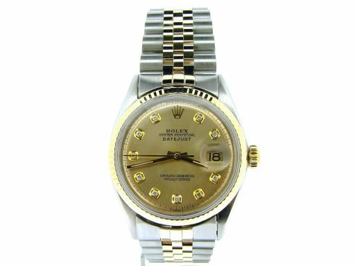 Rolex Two-Tone Datejust 1601 Champagne Diamond-6