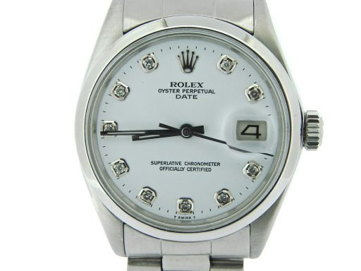 Rolex Stainless Steel Date 1500 Silver Diamond-1