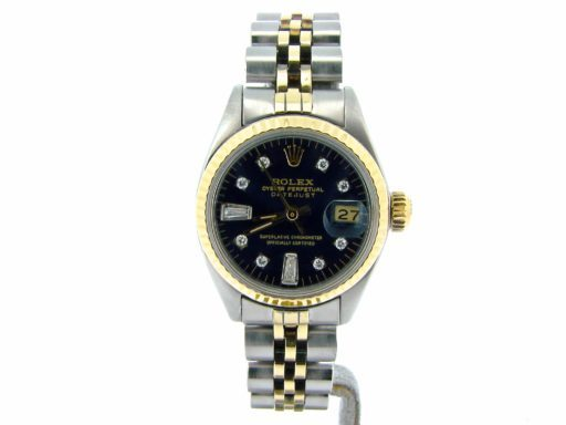 Rolex Two-Tone Datejust 6917 Black Diamond-6
