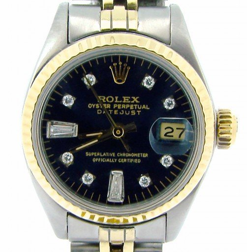 Rolex Two-Tone Datejust 6917 Black Diamond-1