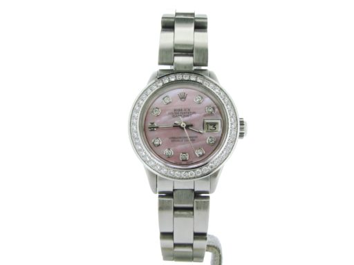 Rolex Stainless Steel Datejust 6917 Pink MOP Diamond-6