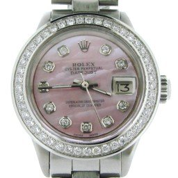 Ladies Rolex Stainless Steel Datejust Pink MOP Diamond (SKU 2914740NDMT)