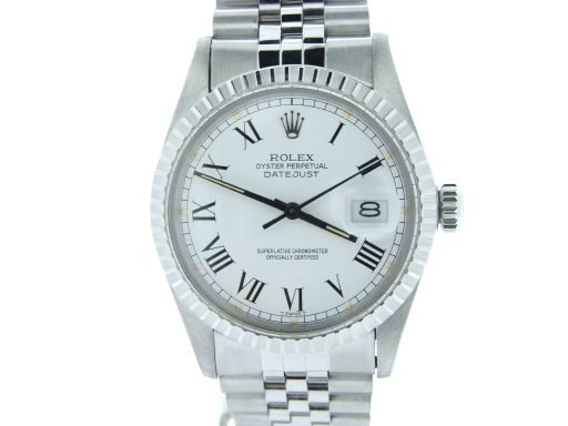 Rolex Stainless Steel Datejust 16030 White Roman-5