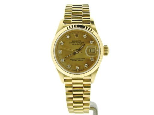Rolex Yellow Gold Datejust President Diamond 69178 Champagne-7