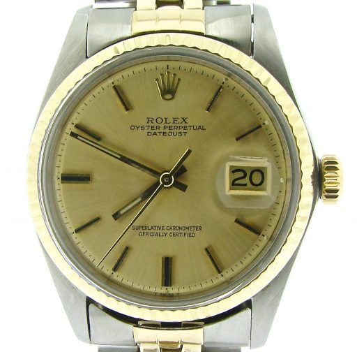 Rolex Two-Tone Datejust 1601 Champagne -1