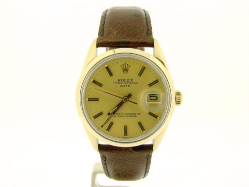 Rolex Gold Shell Date 1550 Champagne-5