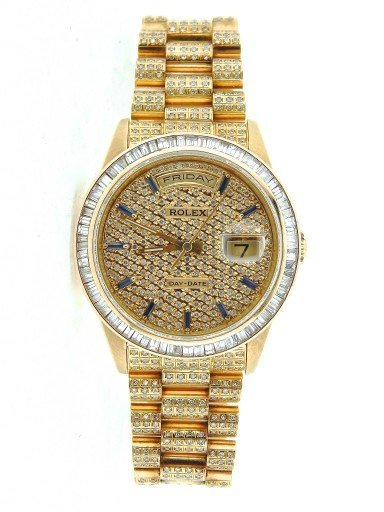 Rolex 18K Yellow Gold Day-Date President 18238 Full Diamond-7